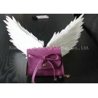 Quality Mini Size Shop Display Christmas Decorations Handmade White Color Feather Wings wholesale