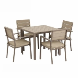 Quality SNUGLANE D580mm Chair Rattan Garden Dining Set , Rattan 4 Seater Set Aluminum wholesale