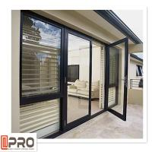 Quality Multi Color Hinged Security Doors , Sound Insulation Aluminium Glass Front Door wholesale