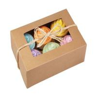 China 6pcs cookie paper box  cardboard macaron packaging box  fried chicken cardboard box on sale