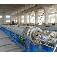 China High Efficiency Twin Screw Extruder , UPVC CPVC Plastic Pipe Making Machine on sale