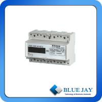 Quality LCD Display Active Mini Power Meter Three Phase Four Wire DIN Rail Intelligent Meter wholesale