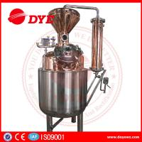 Quality 400L Steam Copper Gin Column Whisky Distillation Equipment With Water Tank wholesale