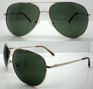 Quality Classical Half Metal Frame Sunglasses , Black Reflective SunGlasses wholesale
