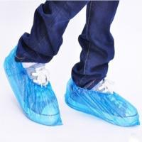 Quality Clear Blue Plastic Disposable Foot Covers Smooth Surface For Pharmacy , Restaurant wholesale