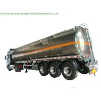 Quality 5083 Aluminium Alloy Tank Semi Trailer 40000L , Fuel Oil Delivery Tanker 3 Axle wholesale