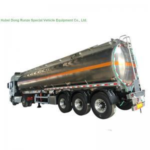 Quality 5083 Aluminium Alloy Tank Semi Trailer 40000L , Fuel Oil Delivery Tanker 3 Axle wholesale