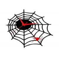 Quality Personalized Plastic Wall Clocks Bar Decoration , Spider Web Shape wholesale