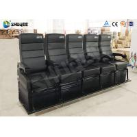 Quality Electric Dynamic System 4D Cinema Equipment Red / Black Cinema Chair For Theater wholesale
