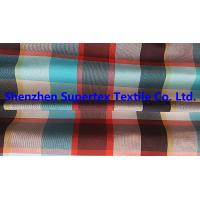 Quality Men's Shirt Custom Nylon Fabric Yarn Dyed Poplin Red Check 95GSM 228T wholesale