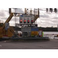 Single Pillar P25 4R2G Portable Traffic Signals , Motorway Electronic Signs For Traffic Management