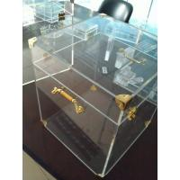 Quality 4mm Acrylic Display Case Clear , Plexiglass Storage Boxes with Lids wholesale