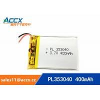Quality 353040pl rechargeable 353040 3.7v 400mah lithium polymer battery for MP3 player, MP4 player wholesale