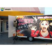 Quality Luxury Motion Chair Truck Mobile 5D Cinema With Snow / Bubble / Windy Simulation wholesale