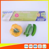 Stretch PE Cling Film Plastic Food Wrap For Keeping Fresh With FDA Approval