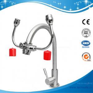 China SH6645-Deck/bench mounted eye wash emergency eye wash softened water  dust cap deck mounted lab eye wash lab furniture on sale