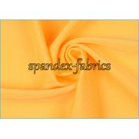Quality Light Yellow Dri - Fit Shiny Polyester Spandex Fabric for Dance Wear , 1.5m X 180gsm wholesale