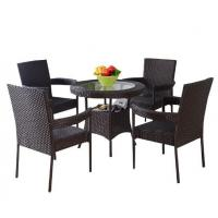 Quality Leisure Aluminium Outdoor Garden Poly Rattan wicker chair patio Backyard table and chairs sets wholesale