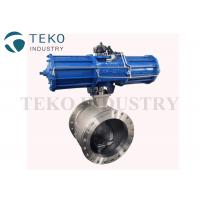 Quality Wafer End Metal Seated V port Segment Ball Valve With ISO Mounting Pad wholesale