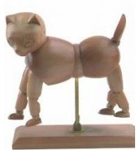Quality Vivid Craft Artist Wooden Manikin Dog / Cat Mannequin Good Design wholesale