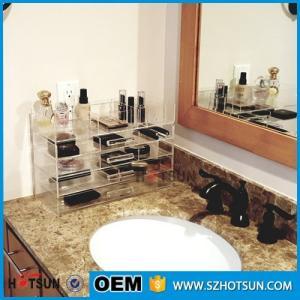 Cheap Acrylic cosmetic makeup organizer/ makeup brush display/ makeup brush holder for sale