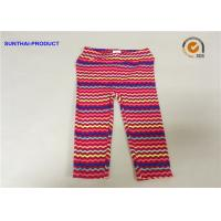 Quality No Side Seam Cute Baby Girl Leggings 95% Cotton 5% Spandex Jersey With Sea Waves Printed wholesale