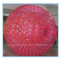 Quality 2.8m Red Inflatable Zorb Ball Hot Air Sealed For Ramp / Grass Land / Hills(CY-M2710) wholesale