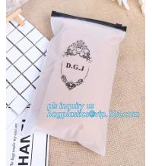 Quality Apparel Garment Clothing package PE slider zip bag, zipper ziplock packaging bags with slider zipper,pvc packaging bags wholesale