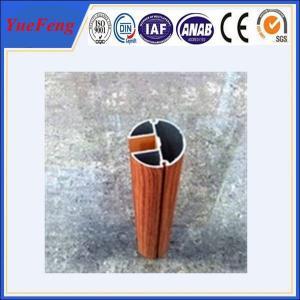China Aluminium fence profile with wooden color / aluminium extrusion catalogue on sale