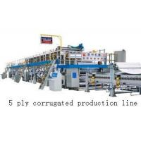 Quality High Speed Corrugated Cardboard Production Line With 1 Year Warranty wholesale