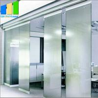 China 1200 mm Width Sliding Partition Walls Frameless Folding Exterior Sliding Glass Doors on sale