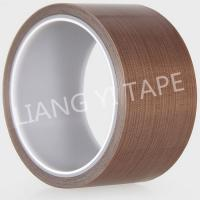 China Brown Silicone PTFE Adhesive Tape , High Temperature Resist Teflon Adhesive Tape on sale
