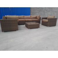 China Sectional All Weather Rattan Furniture Wicker Patio Sofa Set Comfortable Cushion on sale