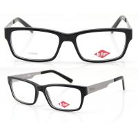 Buy cheap Men Retro Handmade Acetate Eyeglasses Frames, Black Acetate Optical Eyewear from wholesalers