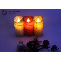 Quality Colorful Moving Flame Led Candles Paraffin Wax Material 7.5cm Diameter wholesale