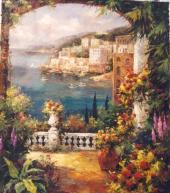 Cheap hand made oil painting on canvas for sale