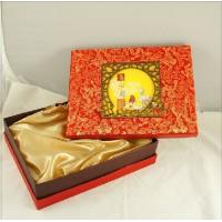 Quality Customized Chinese Moon Cake Boxes With Damask Printing 13 * 10 * 3 inch wholesale