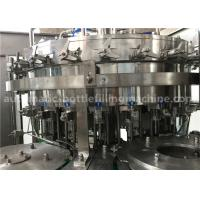 Quality 6.57KW Power Carbonated Drink Filling Machine PE Srew Cap For Gas Contained Beverage wholesale