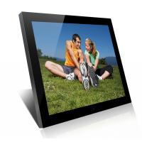 China Acrylic 19 Inch High Resolution Digital Picture Frame With Clock And Calendar on sale