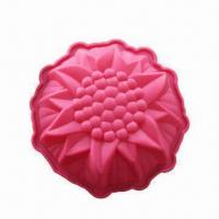 Quality Silicone Cake Pans, Flower Round-shaped Pan, Measures 23.5 x 6cm wholesale