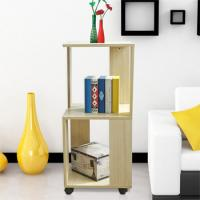 Quality Movable Home Office Wooden Book Rack Maple With Two Layer Storage Space wholesale