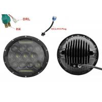 "Cheap 75W 7"" DRL Fog JK Jeep Wrangler Headlights With High / Low H4 Or H13 for sale"