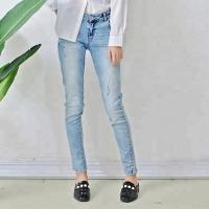 Quality Ice Blue Women Denim Skinny Jeans Pencil Pants Full Length Comfortable wholesale