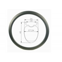 Buy cheap 400g 40mm Tubeless Carbon Road Bike Rim Cycling 700c Bicycle Rims Light from wholesalers
