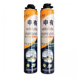 China Heat Resistant 750ML One Component Hardener Pu Foam Spray Adhesive on sale