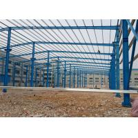 Quality Pre Built Steel Warehouse Construction , Portal Structure Warehouse Steel Frame wholesale