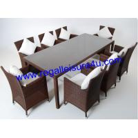 China rattan garden furniture/ rattan rectangle table with 8 rattan chairs RLF-1133204-1 on sale