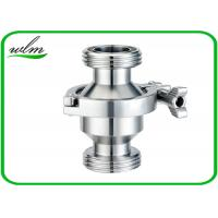Quality Hygienic Grade Sanitary Check Valve With Male Thread Connection , High Sealing Function wholesale