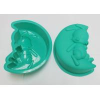 China Novelty Green Rabbit Silicone Cupcake Molds, Silicone Baking Trays on sale