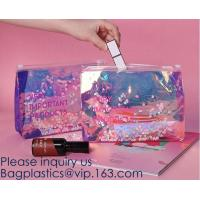 China Promotional EVA cosmetic pouch bag with a rubber handle,eco friendly transparent BSCI women EVA cosmetic bag, bagease on sale